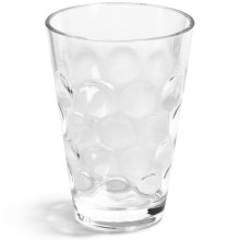 Knack3 Cabin Collection Embossed Circle Double Old-Fashioned Cup - 12 fl.oz. in Clear - Closeouts