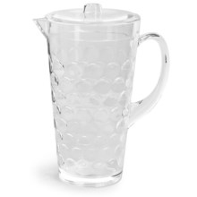 Knack3 Cabin Collection Embossed Circle Pitcher - 2 qt. in Clear - Closeouts