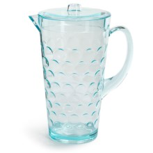 Knack3 Cabin Collection Embossed Circle Pitcher - 2 qt. in Light Blue - Closeouts