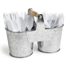 Knack3 Cape Cod Collection Metal Cutlery Holder in See Photo - Closeouts