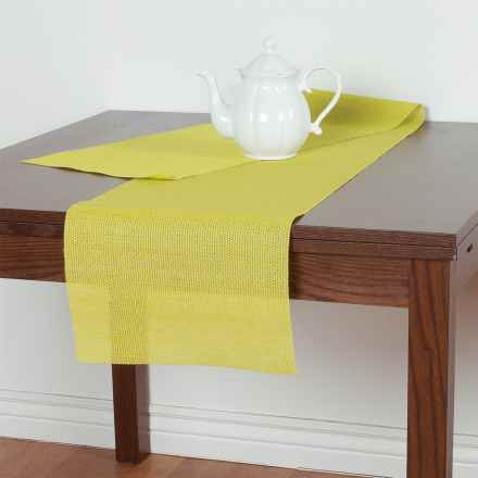 Knack3 Knit-Style Textilene Table Runner in Lime - Closeouts
