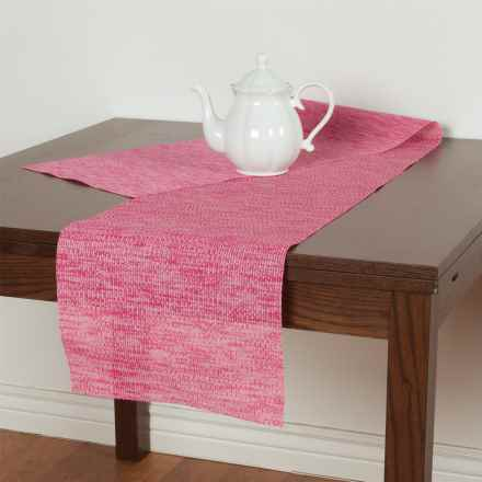 Knack3 Knit-Style Textilene Table Runner in Pink - Closeouts