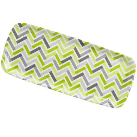 Knack3 Printed Melamine Sandwich Tray in Green/Grey - Closeouts