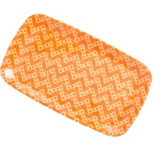 Knack3 Printed Melamine Sandwich Tray in Orange - Closeouts