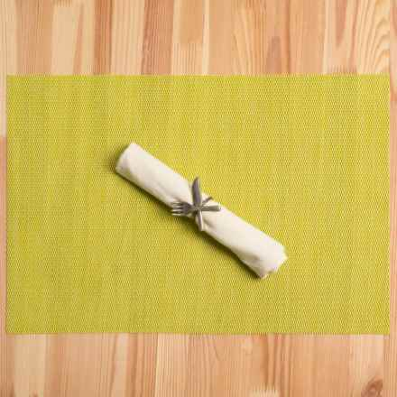 Knack3 Woven Textilene Placemat in Yellow Green - Closeouts