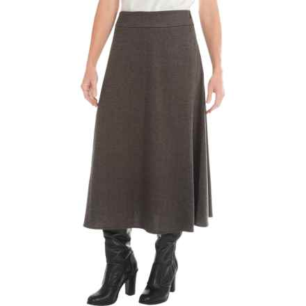 Knit Boot Skirt (For Women) in Brown Herringbone - 2nds