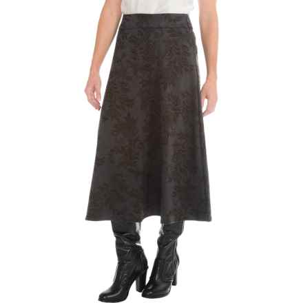 Knit Boot Skirt (For Women) in Charcoal Floral - 2nds