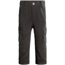 Knit Cargo Pants (For Infant and Toddler Boys) in Charcoal - 2nds