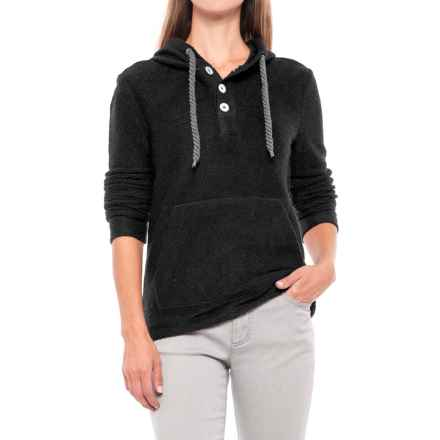 Knit Cowl Neck Sweater Hoodie (For Women) in Black - 2nds