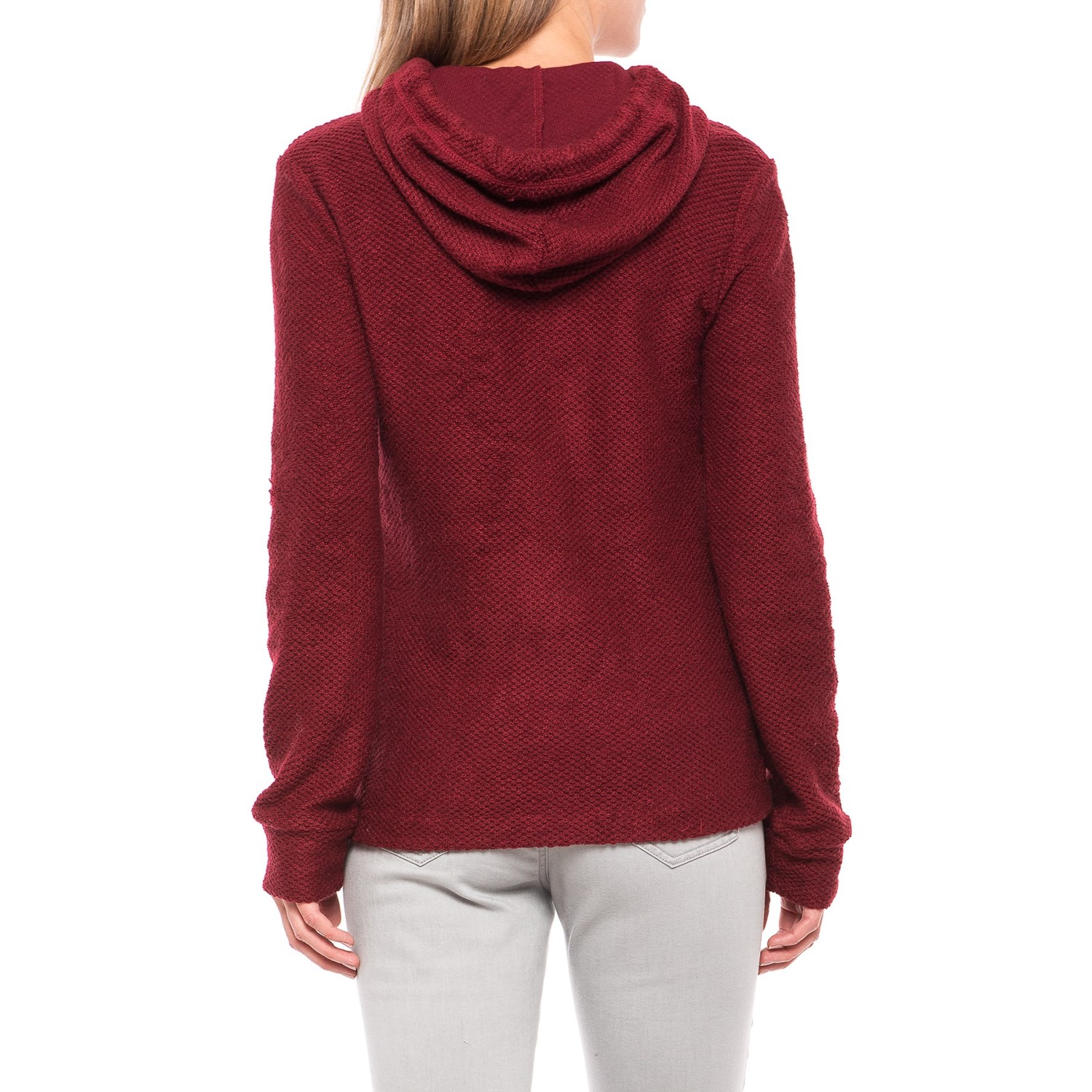 Knit Cowl Neck Sweater Hoodie (For Women) - Save 51%
