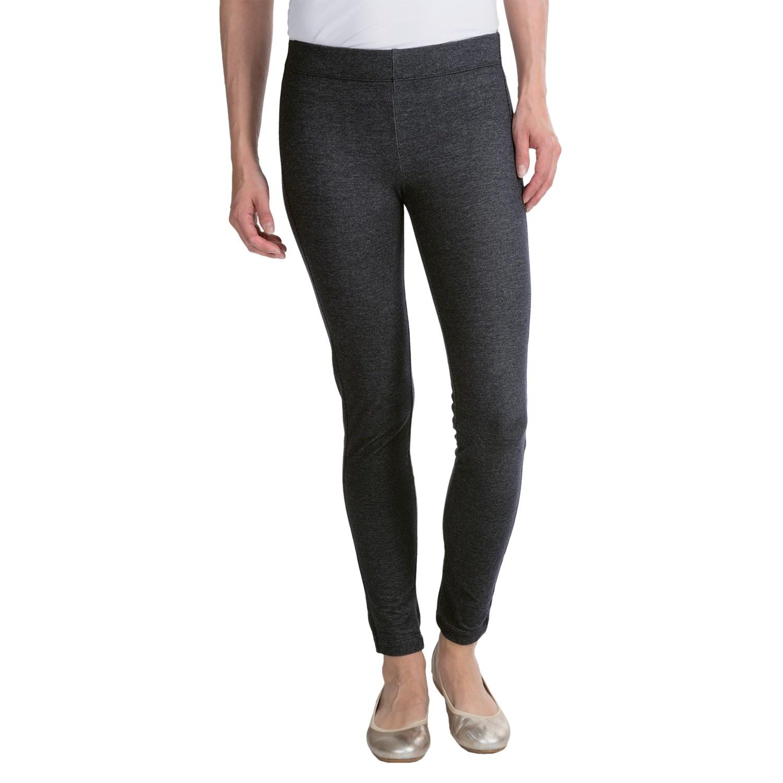 Knit Denim-Look Leggings (For Women)