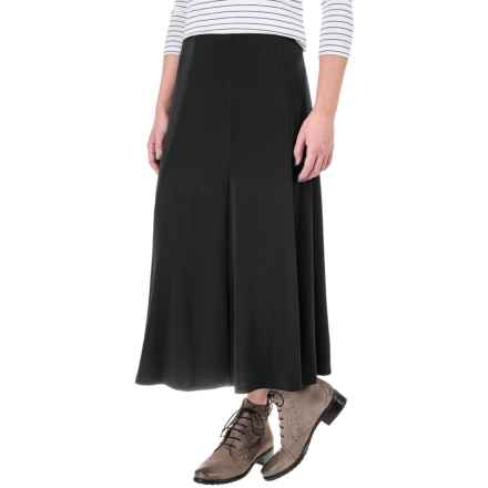 Knit Gored Midi Skirt (For Women) in Black - 2nds