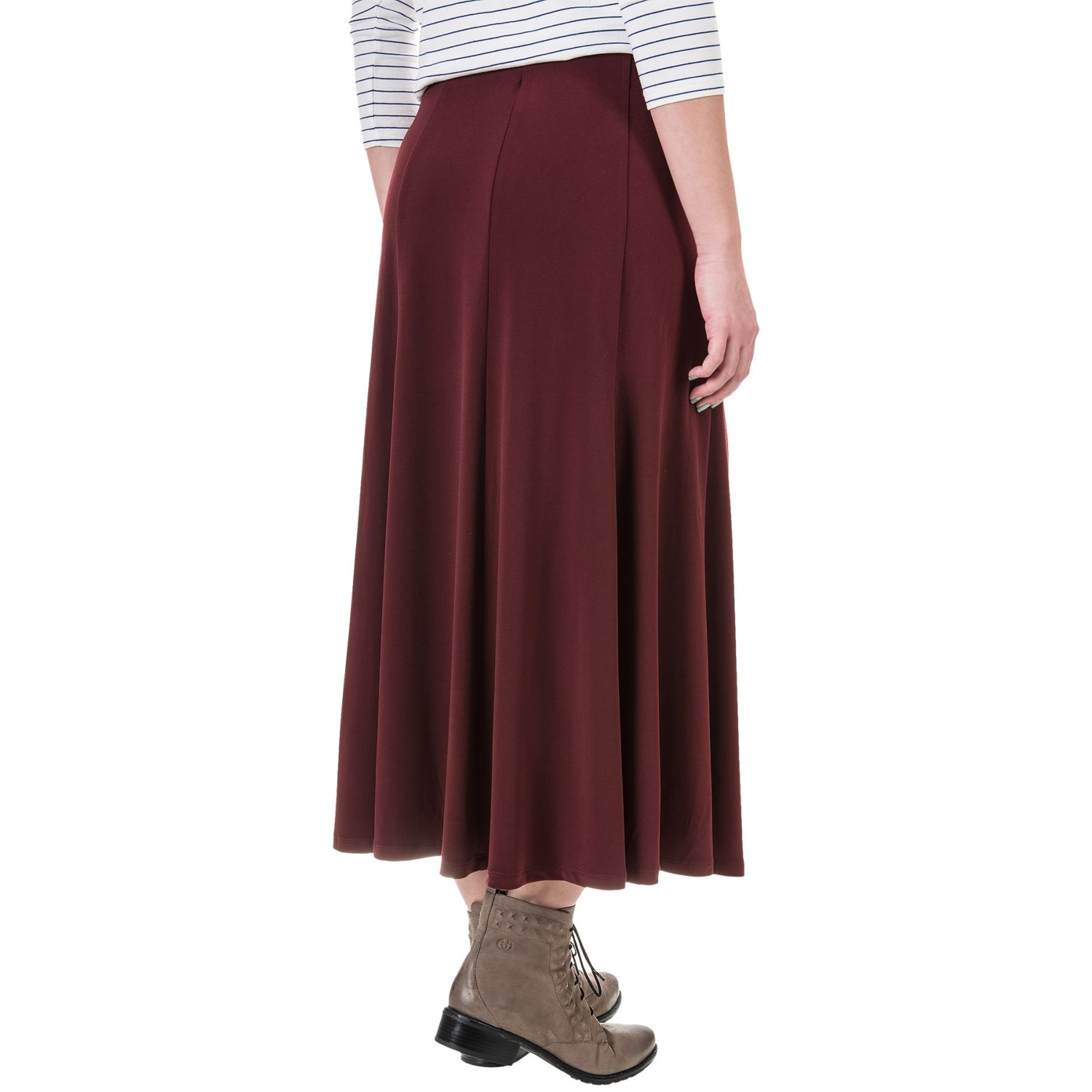 knit gored midi skirt for save 75
