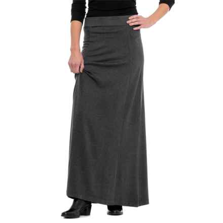 Knit Maxi Skirt (For Women) in Charcoal - 2nds