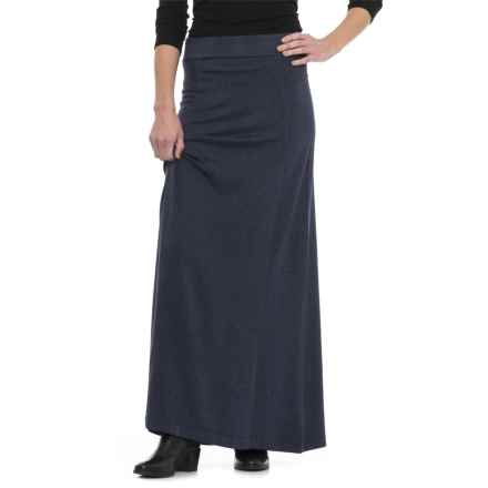 Knit Maxi Skirt (For Women) in Midnight Heather - 2nds