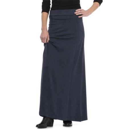Knit Maxi Skirt (For Women) in Midnight Heather