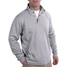 Knit Mock Neck Shirt - Long Sleeve (For Men) in Heather Gray - 2nds
