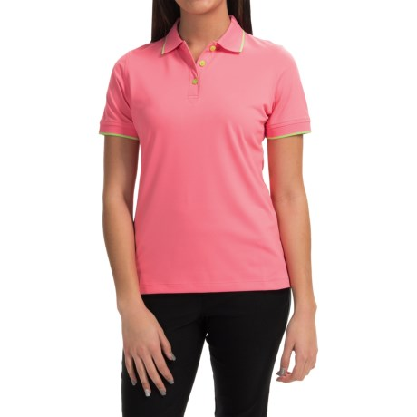 Knit Moisture Wicking Polo Shirt Short Sleeve (For Women)