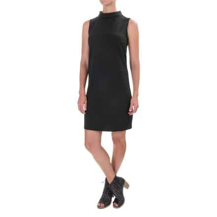 Knit Turtleneck Dress - Sleeveless (For Women) in Black - 2nds