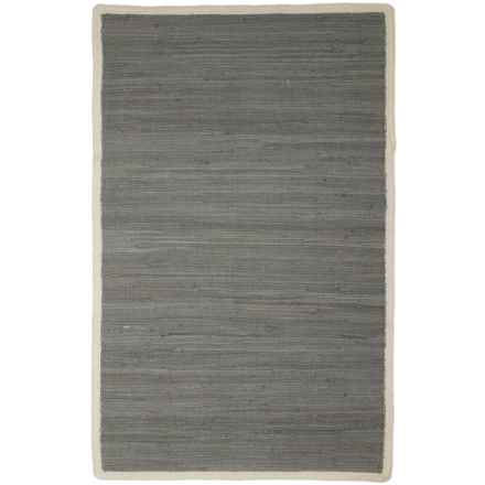 """Knits & Knots Carlton Chindi Cotton Rope Scatter Rug - 30x48"""" in Frost Grey - Closeouts"""
