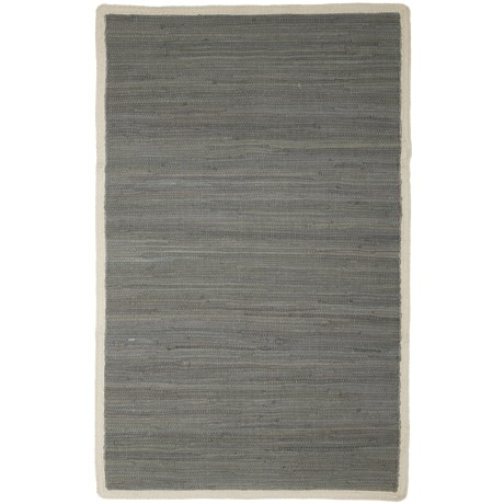 """Knits & Knots Carlton Chindi Cotton Rope Scatter Rug - 30x48"""" in Frost Grey"""