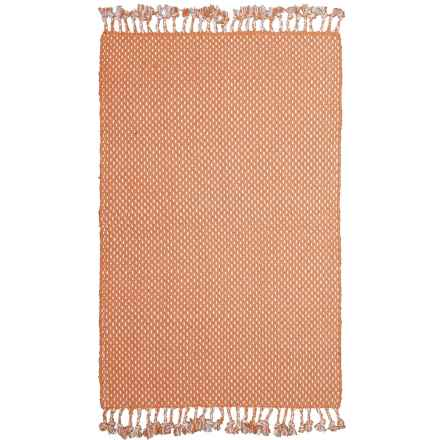 """Knits & Knots Dottie Cotton Scatter Rug - 30x48"""" in Pheasant - Closeouts"""