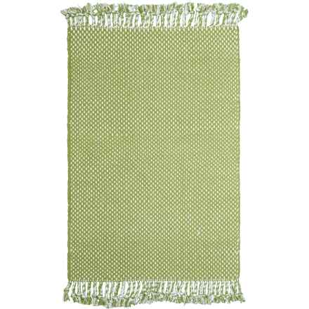 """Knits & Knots Dottie Cotton Scatter Rug - 30x48"""" in Sage - Closeouts"""