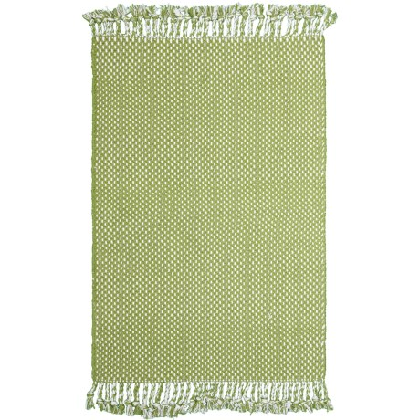 """Knits & Knots Dottie Cotton Scatter Rug - 30x48"""" in Sage"""