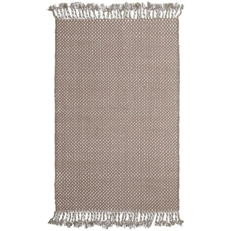 "Knits & Knots Dottie Scatter Rug - 24x36"" in Roasted Cashew"