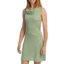 Knits with a Twist Lilac Sweater Dress - Knit, Sleeveless (For Women) in Aqua/Citrus - Closeouts