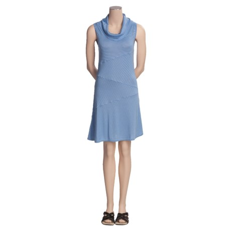 Knits with a Twist Lilac Sweater Dress - Knit, Sleeveless (For Women) in Denim/Sky