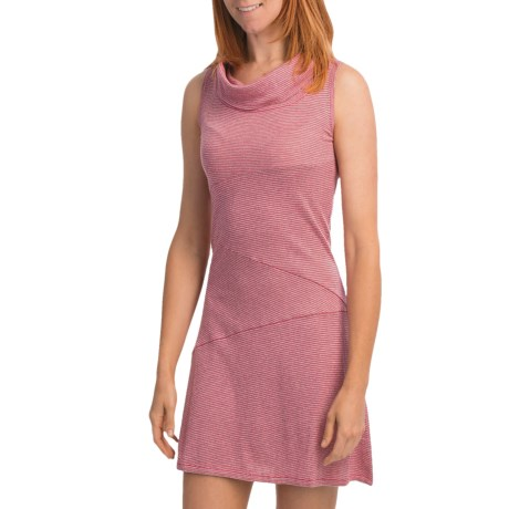 Knits with a Twist Lilac Sweater Dress - Knit, Sleeveless (For Women) in Grey/Raspberry