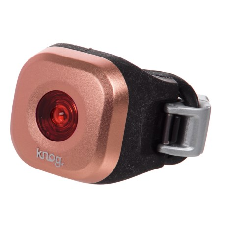 Knog Blinder Mini-Dot Rear Bike Light - Waterproof, 11 Lumens in Rose Copper