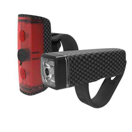 Knog Pop Duo Bike Headlight and Taillight - 2-Pack in Carbon - Closeouts