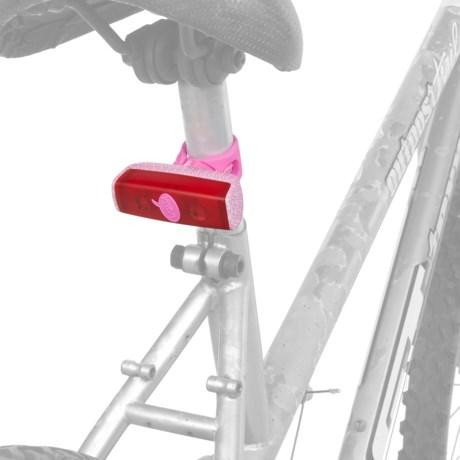 Knog POP R LED Rear Bike Light - Red in Pink