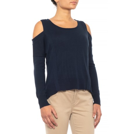 Knyt   Lynk Shoulder Cutout Shirt - Long Sleeve (For Women) in Stormy Night 991b1e211
