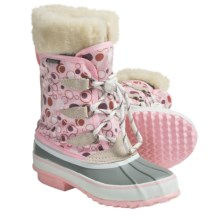 Kodiak Audrey Lined Snow Boots - Waterproof (For Girls) in Pink Polka Dot - Closeouts