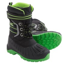 Kodiak Brady Repel X Snow Boots (For Little and Big Boys) in Sonic Green - Closeouts