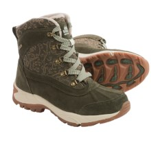 Kodiak Elie Leather Snow Boots - Waterproof, Insulated (For Women) in Olive - Closeouts