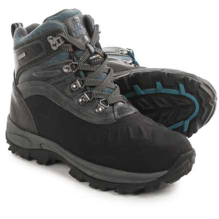 Kodiak Emerson Snow Boots - Waterproof, Insulated (For Men) in Black Leather/Blue Canvas - Closeouts