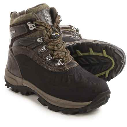 Kodiak Emerson Snow Boots - Waterproof, Insulated (For Men) in Bomber Leather/Olive Canvas - Closeouts