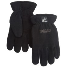 Kodiak Fleece Back Gloves (For Men) in Black/Black - Closeouts