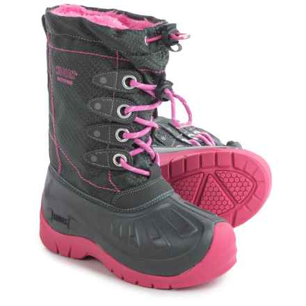 Kodiak Glo Cali Pac Boots - Waterproof, Insulated (For Little and Big Girls) in Grey/Cotton Candy Pink - Closeouts