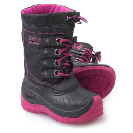 Kodiak Glo Cali Snow Boots - Waterproof (For Girls) in Cotton Candy Pink - Closeouts