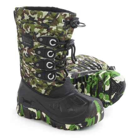 Kodiak Glo Charlie Snow Boots - Waterproof, Insulated (For Little and Big Boys) in Black/Camo - Closeouts