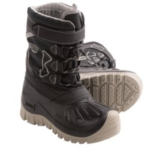 Kodiak Glo Gordy Snow Boots - Waterproof (For Boys) in Black/Midnight Grey - Closeouts