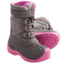 Kodiak Glo Gracie Snow Boots - Waterproof (For Girls) in Grey/Cotton Candy Pink - Closeouts