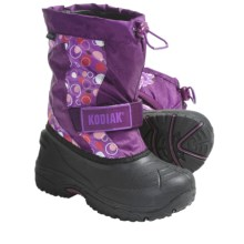 Kodiak Kaitlin Snow Boots - Waterproof, Insulated (For Girls) in Grape Bubble - Closeouts