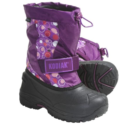 Kodiak Kaitlin Snow Boots - Waterproof, Insulated (For Girls) in Grape Bubble