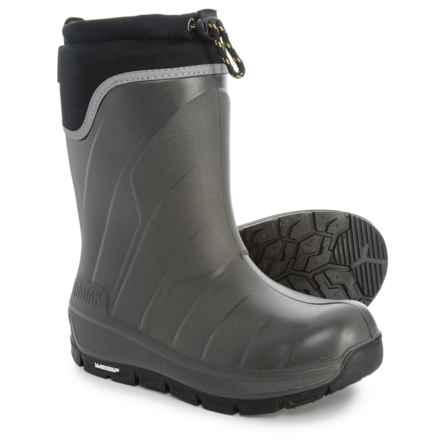 Kodiak Klondike Snow Boots - Waterproof, Insulated (For Girls) in Grey/Laser Lemon - Closeouts